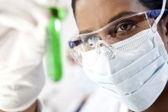 an environmental testing lab technician