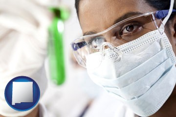 an environmental testing lab technician - with New Mexico icon